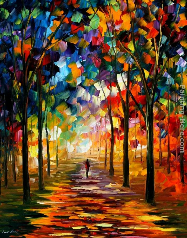 Leonid afremov path painting best path paintings for sale for Large artwork for sale