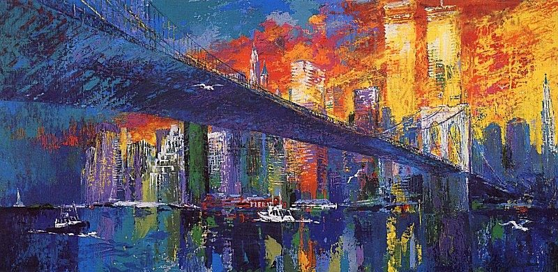 Leroy Neiman The Brooklyn Bridge