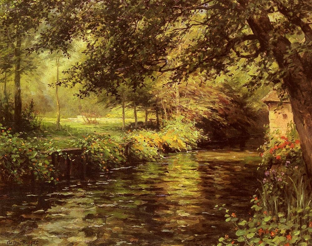 Louis Aston Knight A Sunny Morning At Beaumont-Le-Roger