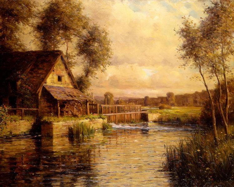 Louis Aston Knight Old Mill in Normandy