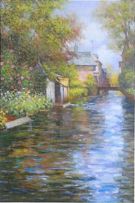 Louis Aston Knight River bank Painting | Best River bank ...