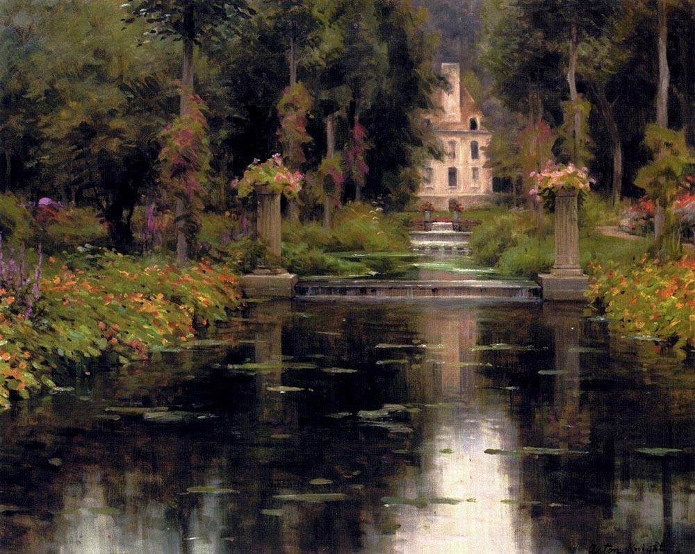 Louis Aston Knight View Of A Chateaux