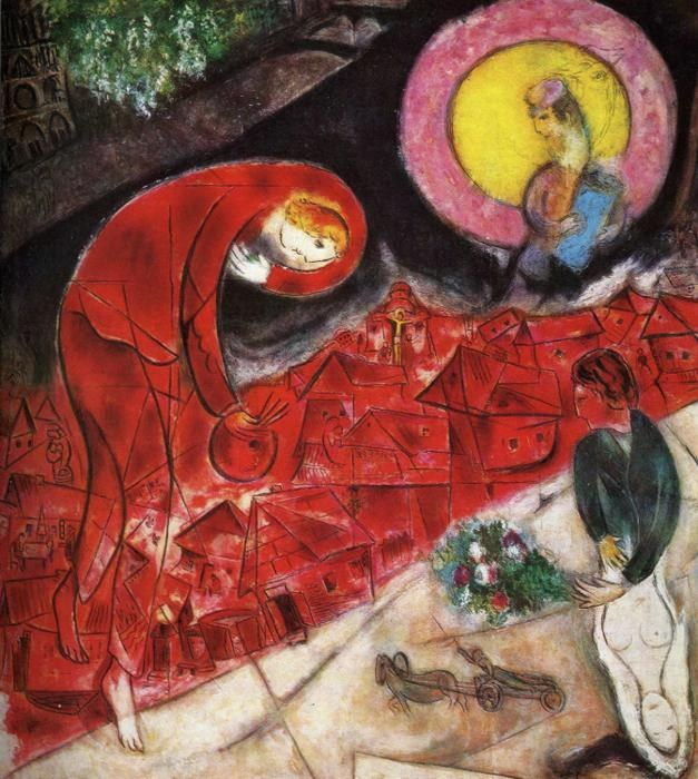 Marc Chagall Red Roofs