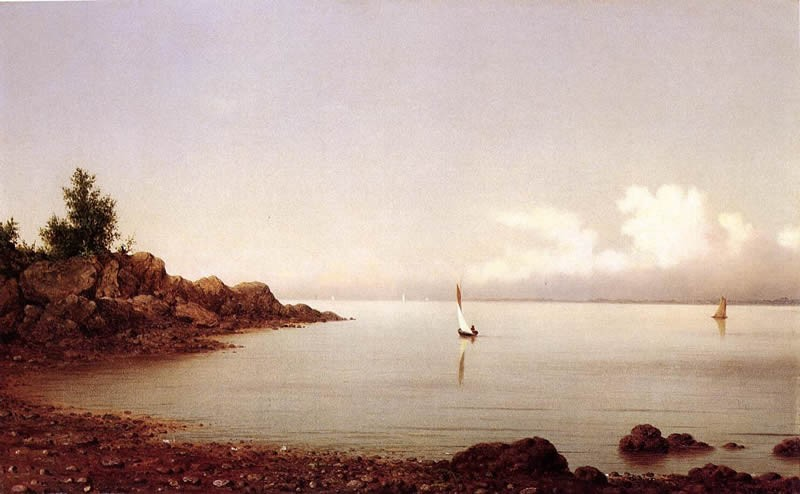 Martin Johnson Heade Rocky Shore