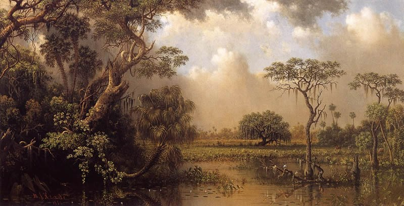 Martin Johnson Heade The Great Florida Marsh