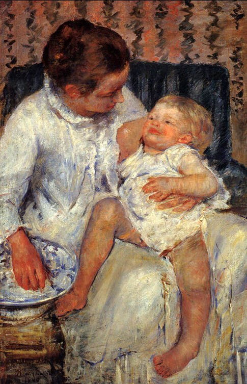 Mary Cassatt Mother about to Wash her Sleepy Child 1880
