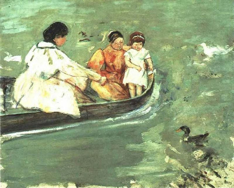 Mary Cassatt On The Water