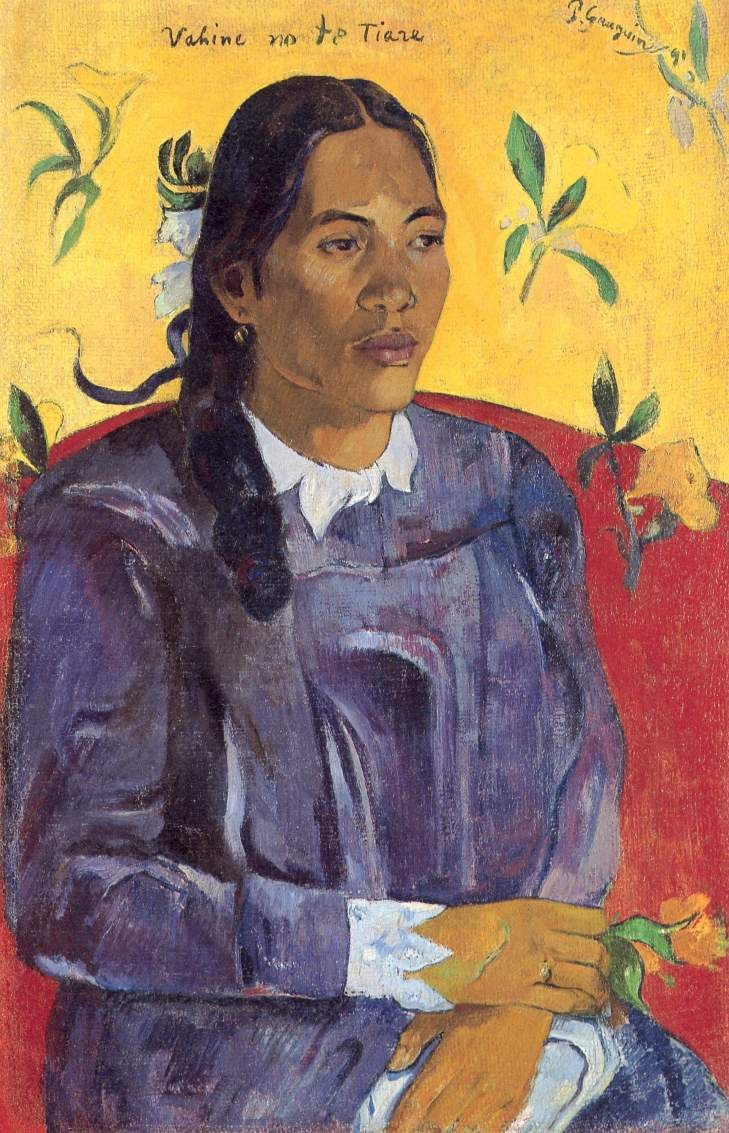 Paul Gauguin Woman with a Flower
