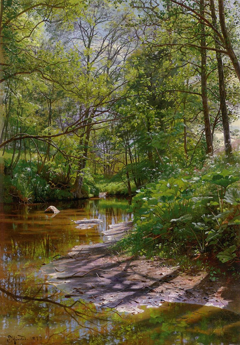 Peder Mork Monsted A River Landscape