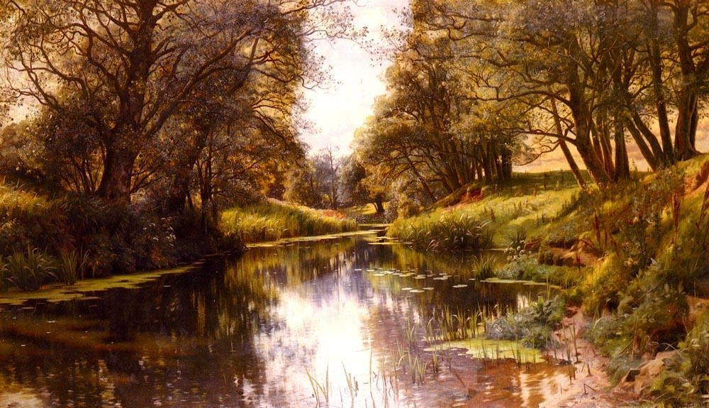 Peder Mork Monsted A Winding Stream In Summe