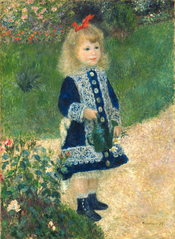 Pierre Auguste Renoir A Girl with a Watering Can