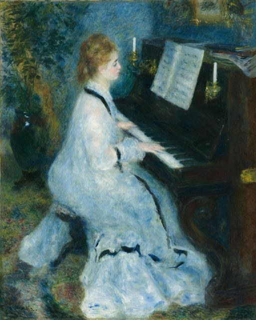 Pierre Auguste Renoir Woman at the Piano