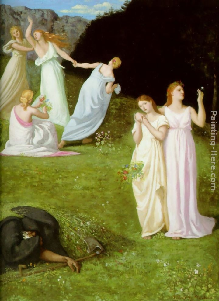 Pierre Cecile Puvis de Chavannes Death and the Maiden