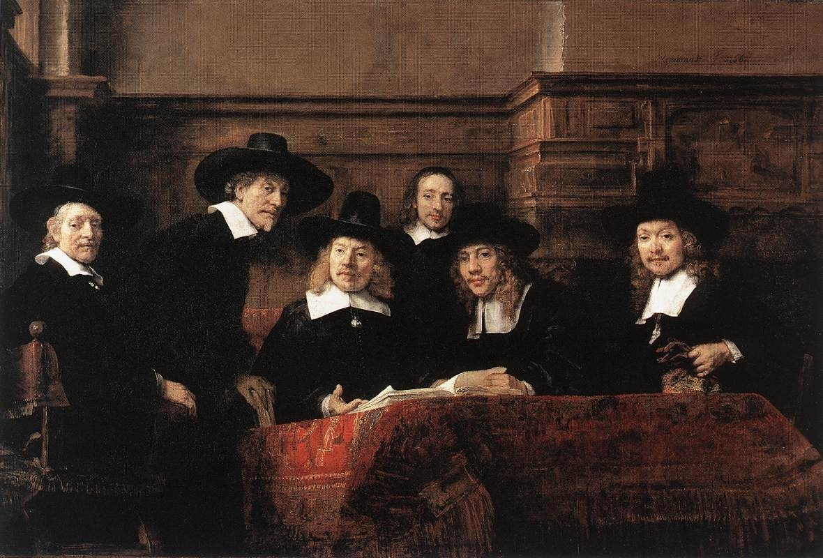 Rembrandt Sampling Officials of the Drapers' Guild