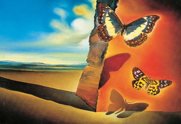 Salvador dali paysage aux papillons landscape with for All of salvador dali paintings