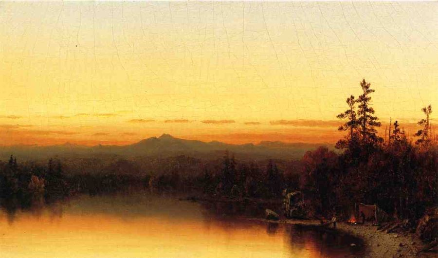 Sanford Robinson Gifford A Twilight in the Adirondacks