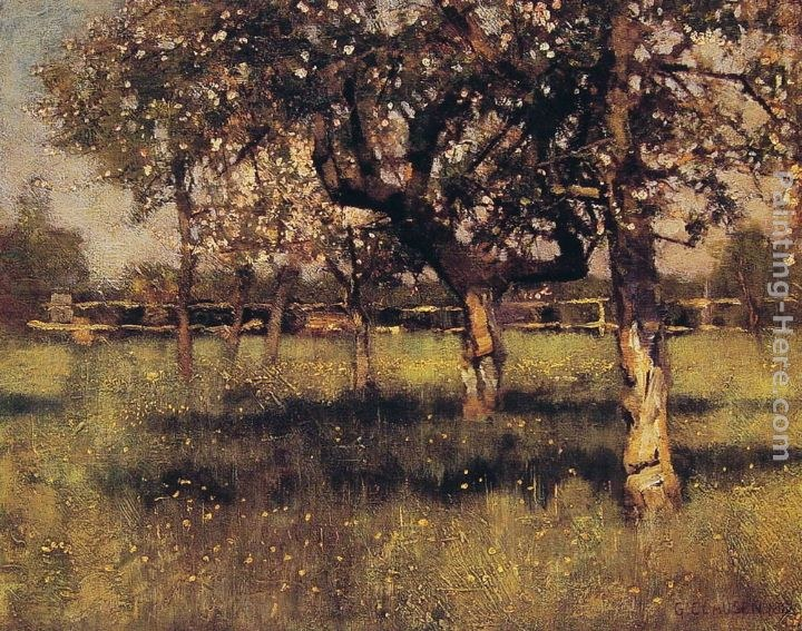 Sir George Clausen An Orchard in May