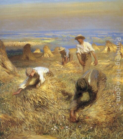Sir George Clausen Harvesting the Sheaves