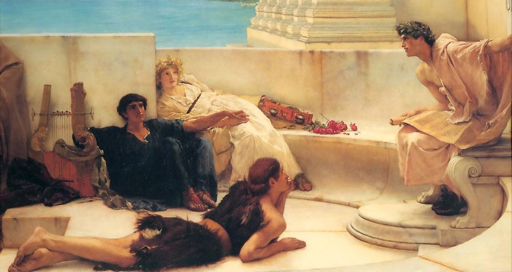 Sir Lawrence Alma-Tadema A Reading from Homer