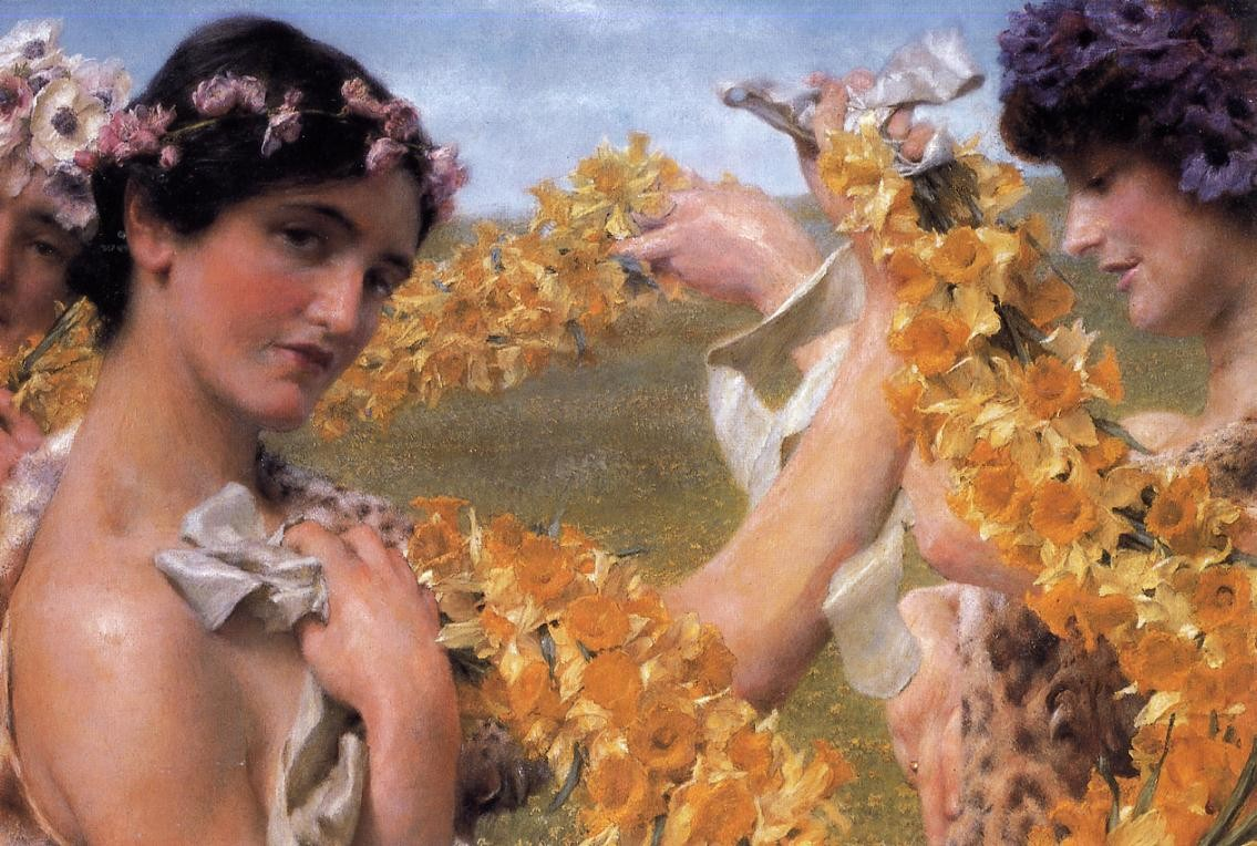 Sir Lawrence Alma-Tadema When Flowers Return