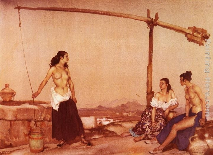 Sir William Russell Flint Disputation at the Well
