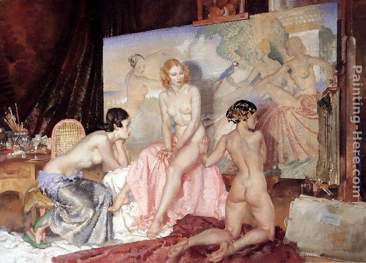 Sir William Russell Flint Models For Olympians