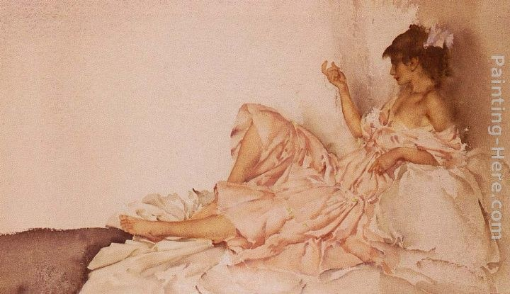 Sir William Russell Flint The Diamond Necklet