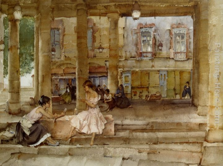 Sir William Russell Flint The Market Hall Cordes