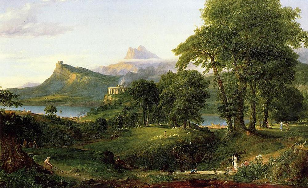 Thomas Cole The Course of Empire The Arcadian or Pastoral State