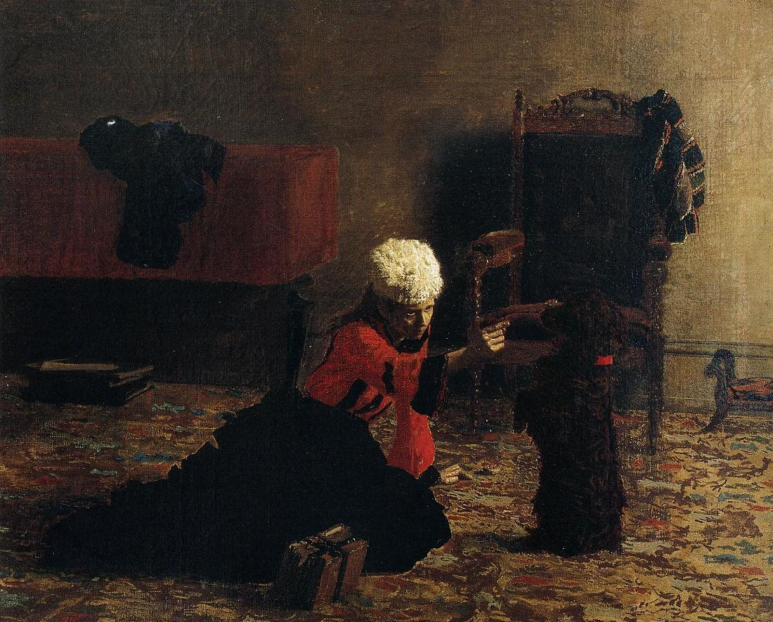 Thomas Eakins Elizabeth Crowell with a Dog