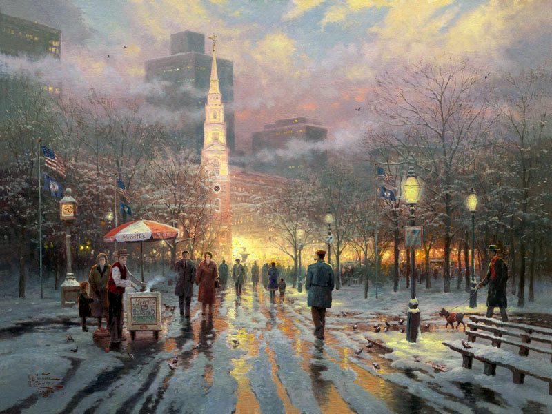 Thomas Kinkade Boston Celebration