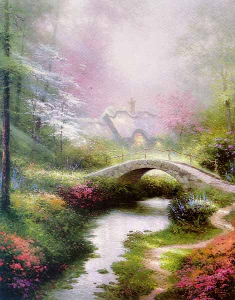 Thomas Kinkade Brookside Hideaway