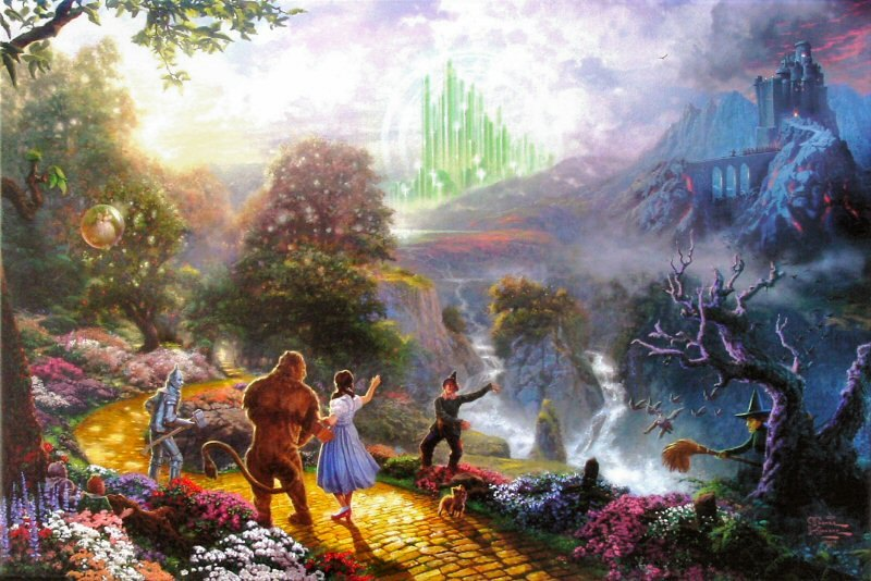 Thomas Kinkade Dorthy Discovers the Emerald City