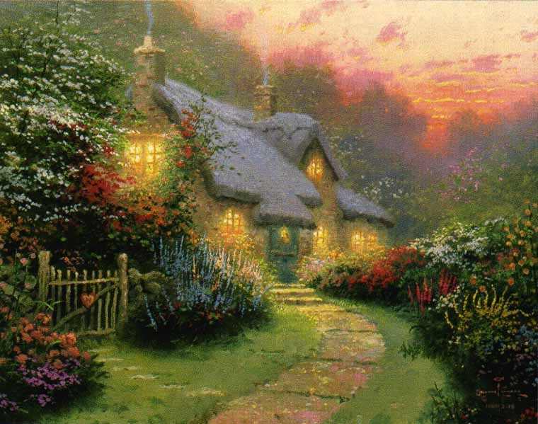 Thomas Kinkade Glory of Evening