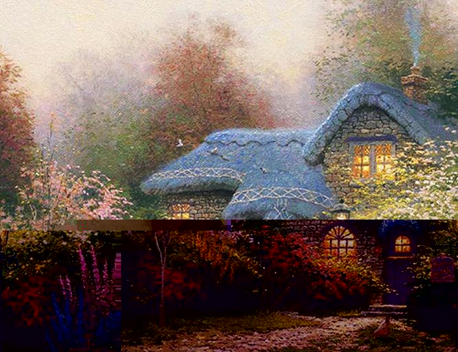 Thomas Kinkade Heather's Hutch