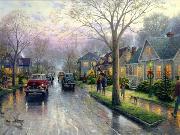 Thomas Kinkade Hometown Christmas