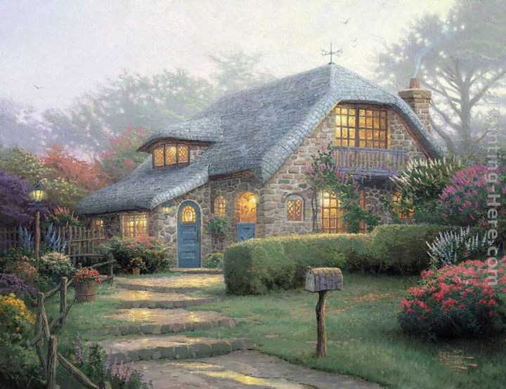 Thomas Kinkade Lilac Cottage