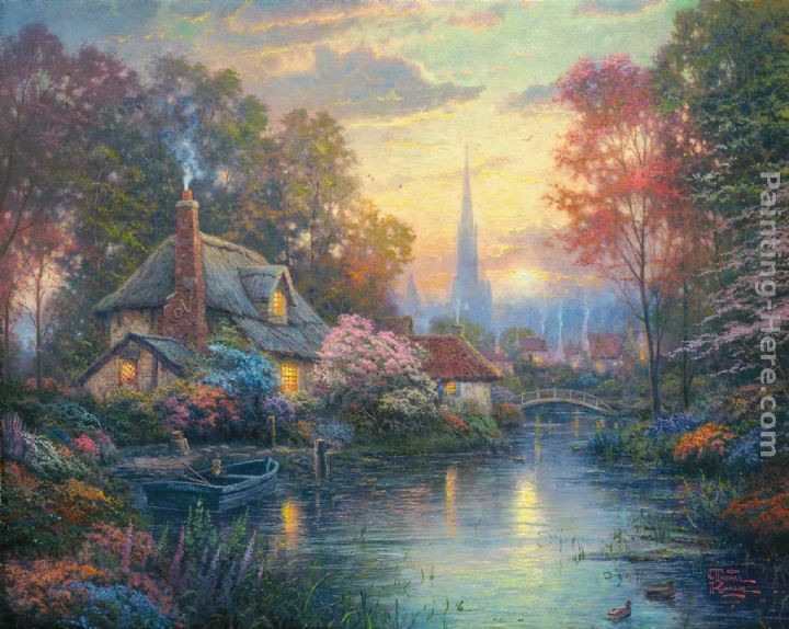 Thomas Kinkade Nanette's Cottage