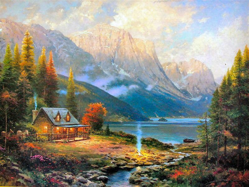 Thomas Kinkade The Beginning of a Perfect Day