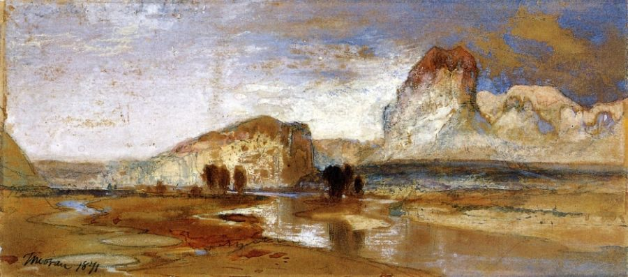 Thomas Moran First Sketch Made in the West at Green River, Wyoming