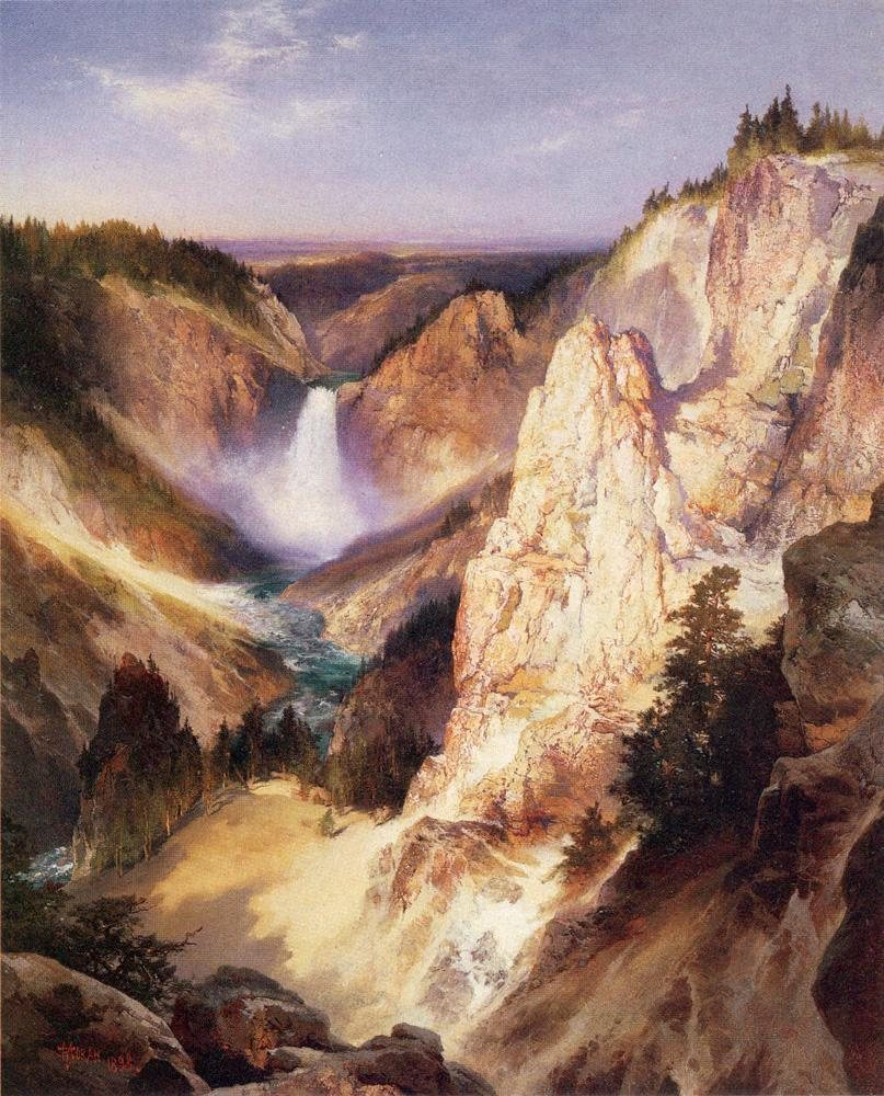 Thomas Moran Great Falls of Yellowstone