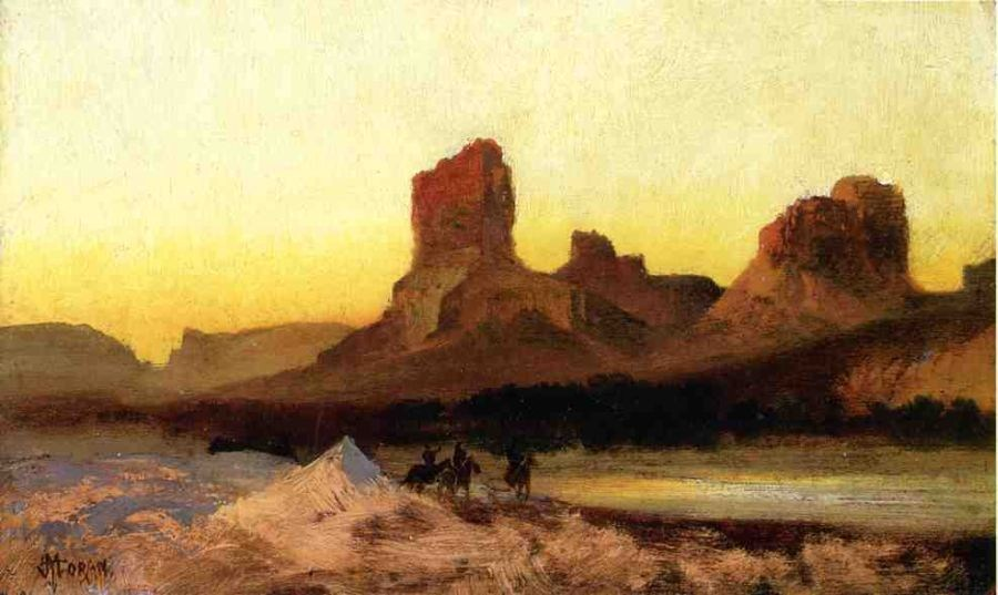 Thomas Moran Indians at the Green River