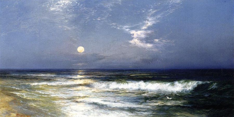 Thomas Moran Moonlit Seascape I