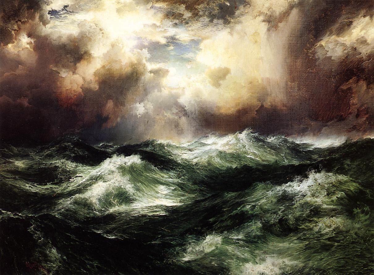 Thomas Moran Moonlit Seascape