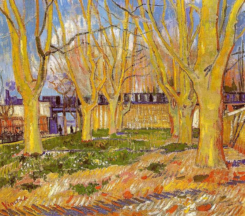 Vincent van Gogh Avenue of Plane Trees near Arles Station