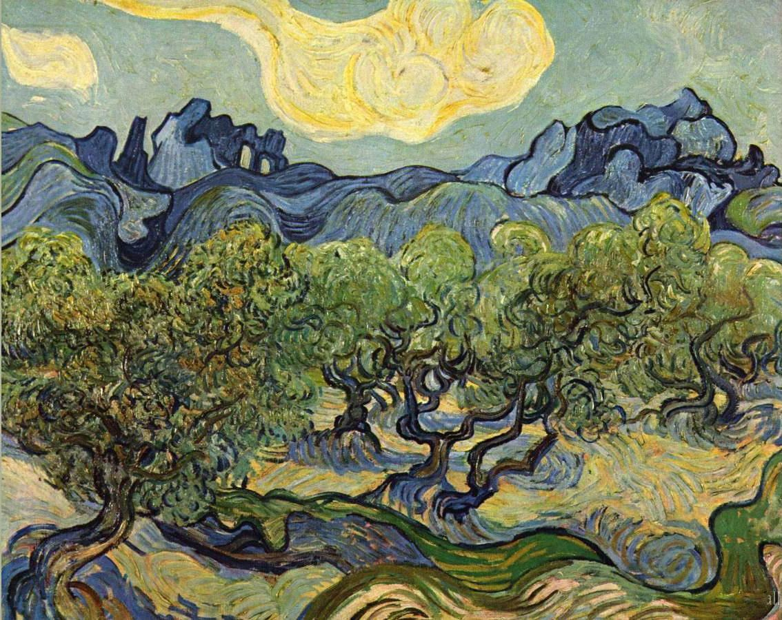 Vincent van Gogh Landscape with Olive Trees