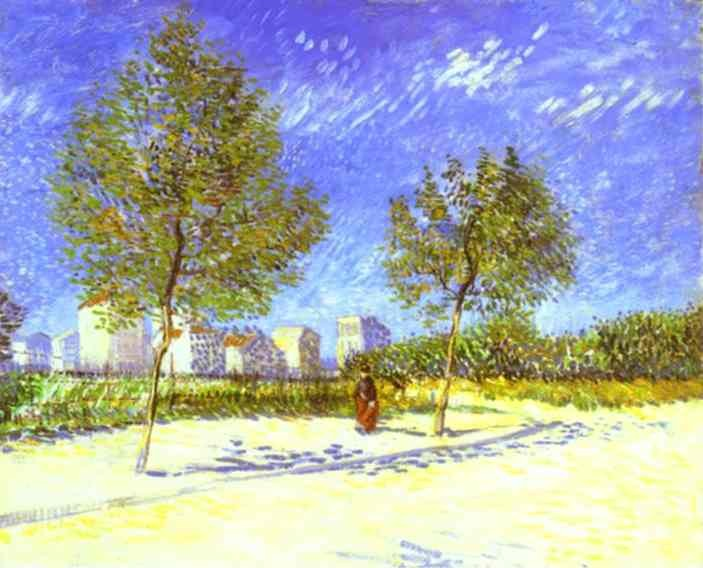 Vincent van Gogh On the Outskirts of Paris