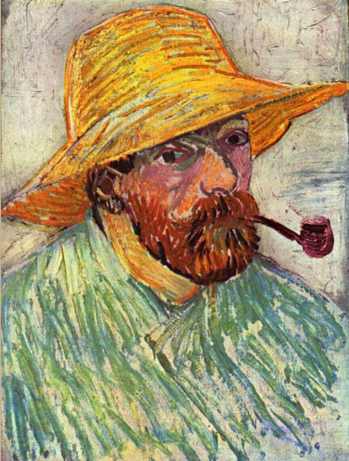 Vincent van Gogh Self-Portrait with Straw