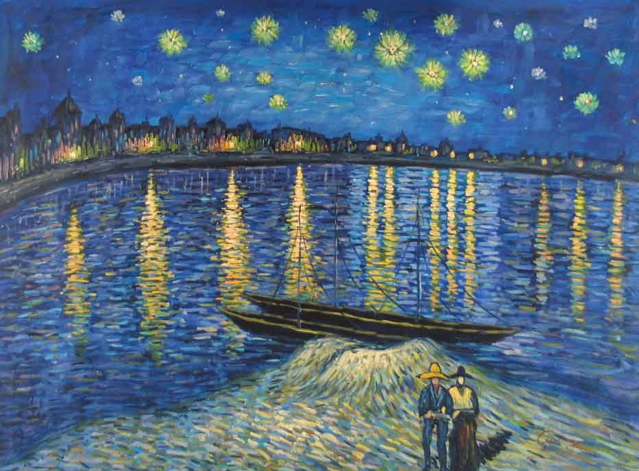 Vincent van Gogh Starry Night Over the Rhone 2
