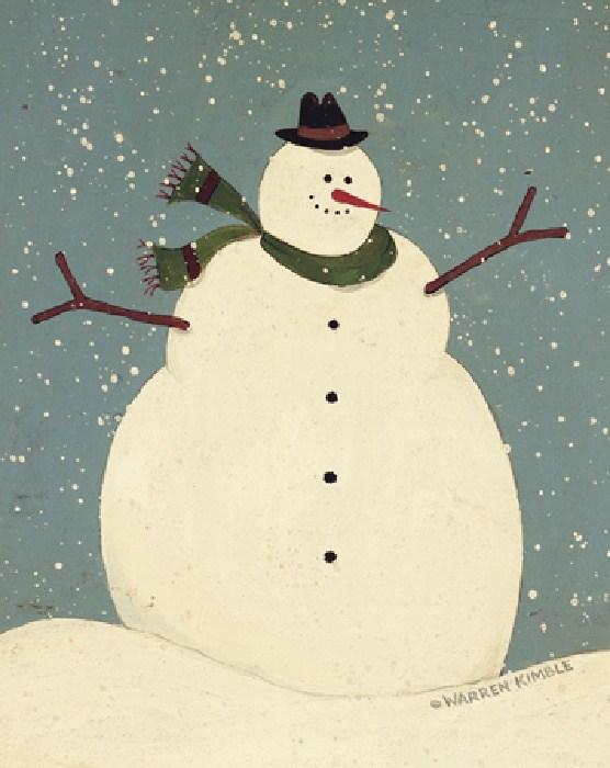 Warren kimble snowman painting best snowman paintings for How to paint snowmen